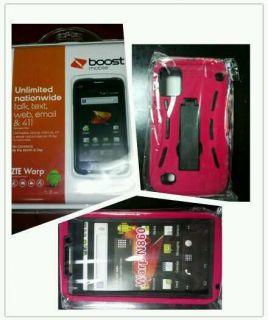 ZTE Warp 4GB Boost Mobile Android Smartphone Brand New Otter Box More