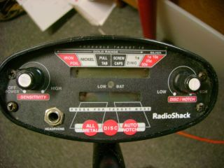Radio Shack Discovery 2000 Metal Detector Treasure Finder