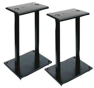 Pair of Heavy Duty Steel Double Support Bookshelf Speaker Stand