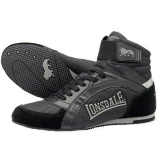 New Lonsdale Boxing Shoe Swift Black Kids Adult Boots