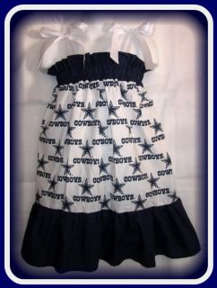 NFL Dallas Cowboys Football Sports Boutique Custom Pillowcase Dress or