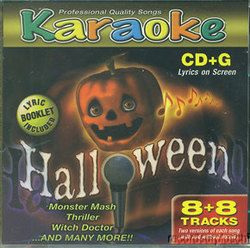 Halloween Karaoke CD G Monster Mash Thriller Witch Doctor Time Warp
