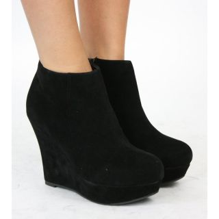 Ladies Wedge Shoes Zip Booties Wedges High Heel Platform Shoe Ankle