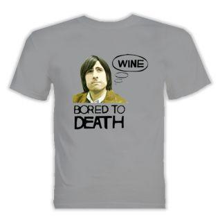 Bored to Death Jason Schwartzman T Shirt Sport Grey