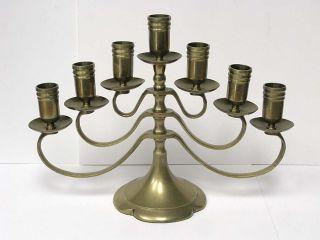 Brass Candelabra 7 Seven Candle Holder Centerpiece Candleholder