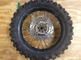 2001 Kawasaki KX85 KX100 Rear Black Excel Rim Wheel Tire Good Shape