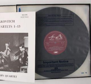 Shostakovitch String Quartets 1 13 Borodin Quartet SLS 879 HMV