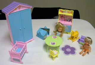 Bratz Barbie Kelly Monster High Baby Playroom Set