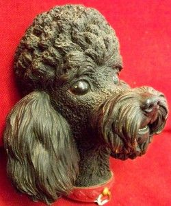 Bossons Congleton England Black French Poodle Dog Head