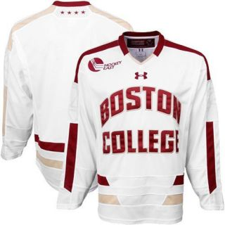 Under Armour Boston College Eagles Tackle Twill Hockey Jersey White