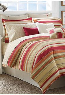 Nautica Comforter Full Queen 4pc Set Bedding Bay View Red Green Orange