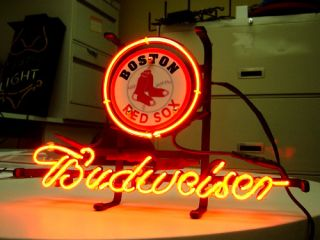 BOSON RED SOX Baseball Budweiser Beer NEON LIGH SIGN if022