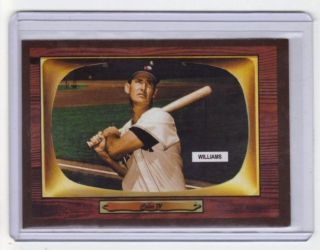 1955 Color TV #408 Ted Williams Boston Red Sox hall of fame outfielder