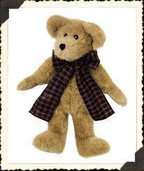 Boyds Plush JB Bean Braxton B Bear Bow Teddy Bear