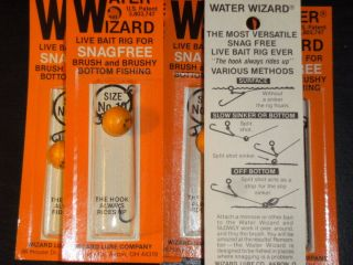 WIZARD FISHING LURE BAIT RIGS SNAG FREE BAIT RIG LURES brushy bottom