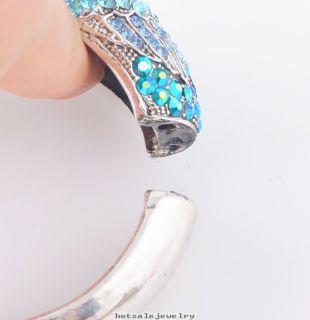 Crystal Rhinestone Phoenix Bird Cuff Bracelets Bangles RB379