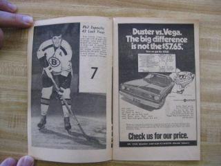 1970 71 BOSTON BRUINS TV Hockey Program & Autograph Book Boston Herlad