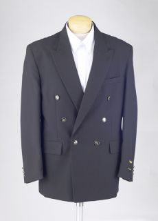 Black Blazer Double Breasted High Quality Money Back Guarantee