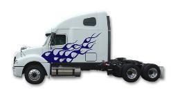 Semi Truck Flame Flames Decals Graphics Mack Volvo