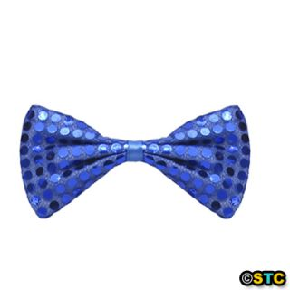Blue Sequin Bow Tie ~ HALLOWEEN JULY 4TH DANCE COSTUME PARTY ACCESSORY