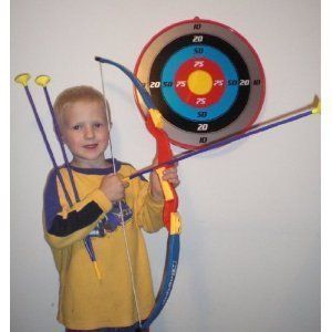 Toy Archery Bow and Arrow Set with Target and Arrows