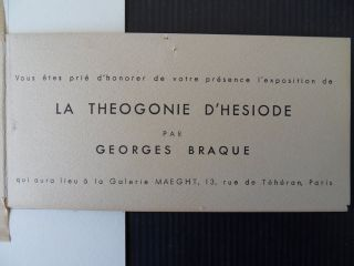 BRAQUE Georges  Theogonie   ORIGINAL LITHOGRAPH   SIGNED # MAEGHT
