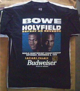 HOLYFIELD vs BOWE II WORLD HEAVYWEIGHT CHAMPIONSHIP Boxing T Shirt