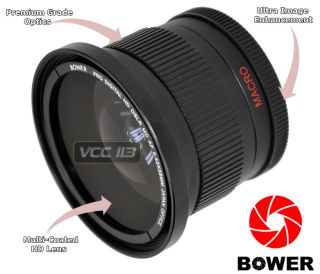 Bower 58MM Wide Angle FishEye Lens 042X Fish Eye