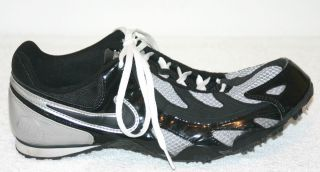 Nike Bowerman Series Black Silver Track Field Running Shoes Cleats