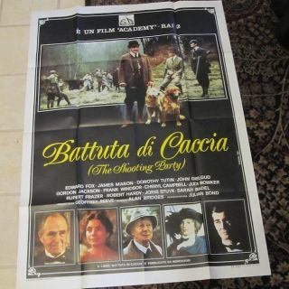 RARE 80s Large Movie Poster France Judi Bowker James Mason