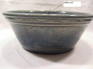 Pottery Bowl Blue Windmill House Scene Vintage