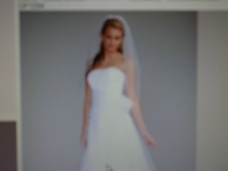 Davids Bridal Wedding Dress Long Organza Gown Op 1204