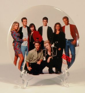 1991 Beverly Hills 90210 6 Pinback Pin Group Picture Brandon Dylan