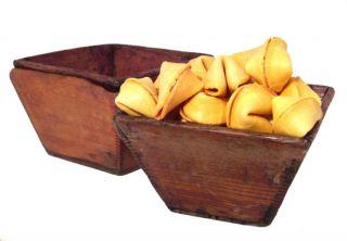 Antique Asian Light Wood Rice Bowls Wricel