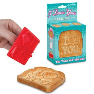 TOAST STAMPER STAMP BREAD SAY I LOVE YOU W YOUR MORNING BREAKFAST FOOD