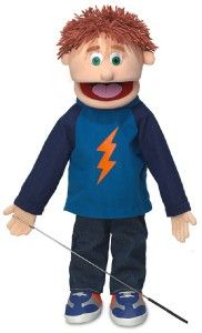 25 Large Full Body Boy Hand Puppet with Arm Rod Tommy