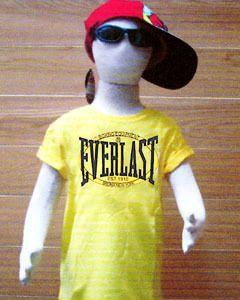 Kids Everlast Boxing Yellow T Shirt Short Sleeve Size 6 Age 6 7 Year
