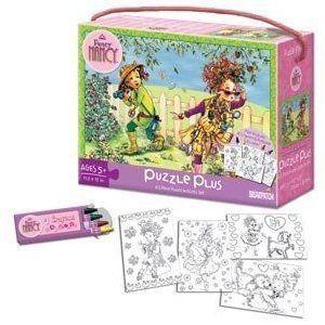 Fancy Nancy Puzzle Plus by Briarpatch 63 Puzzle Pieces Pus Crayons and