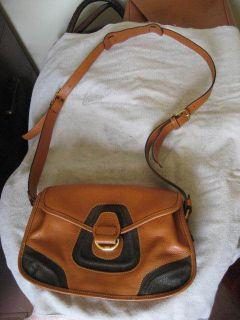 BRICS Vintage Italian Leather Saddle Bag Crossbody Purse Handbag