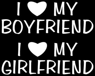 Love My Boyfriend or Girlfriend Sticker Window Vinyl
