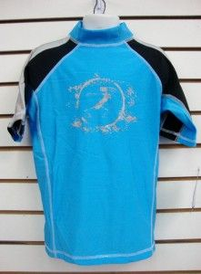 boys spf 50 surf shirt rash guard short sleeve small thru xl rgc3t lt