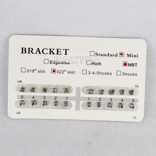 Pack 20pcs Dental Ortho Orthodontics Bracket Braces Mini MBT 022 No