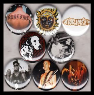 Sublime 1in Button Pinbacks Bradley Nowell Ska Punk Pot
