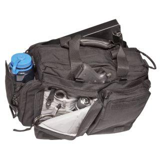 11 Tactical Black Side Trip Briefcase Gear Medium Bag w/ Shoulder