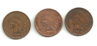 Three Little Indian Head Cents Full Liberty Headbands