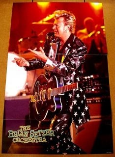 BRIAN SETZER ORCHESTRA STRAY CATS GRETSCH GUITAR LIVE POSTER