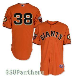 Brian Wilson Authentic 2011 San Francisco Giants Alt Orange Jersey Sz