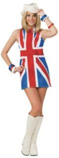 Costume British Invasion 60s Style Union Jack Dress
