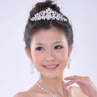 Bridal Butterfly Rhinestone Crystal Headpiece Crown Hair Tiara