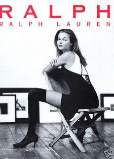 1993 Ralph Lauren RRL Bridget Hall Fashion Magazine Ad